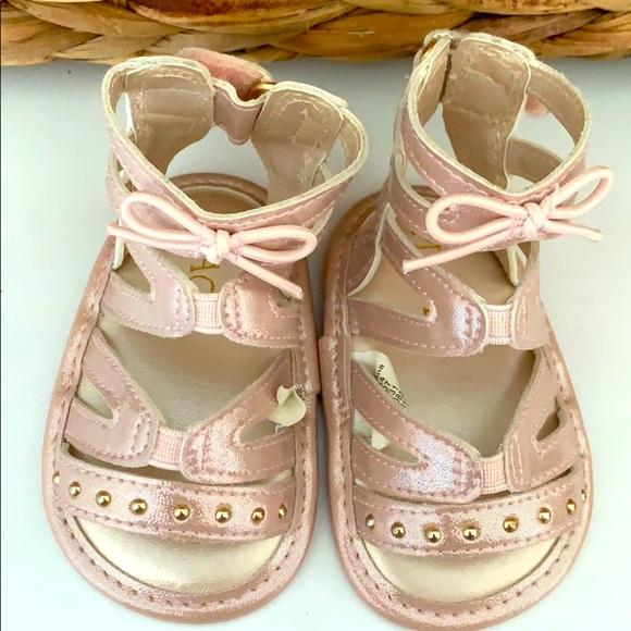 Pink Gladiator Sandal Baby Girl Size 2